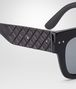 BOTTEGA VENETA SUNGLASSES IN BLACK ACETATE RUBBER GREY POLARIZED LENS Sunglasses D ap