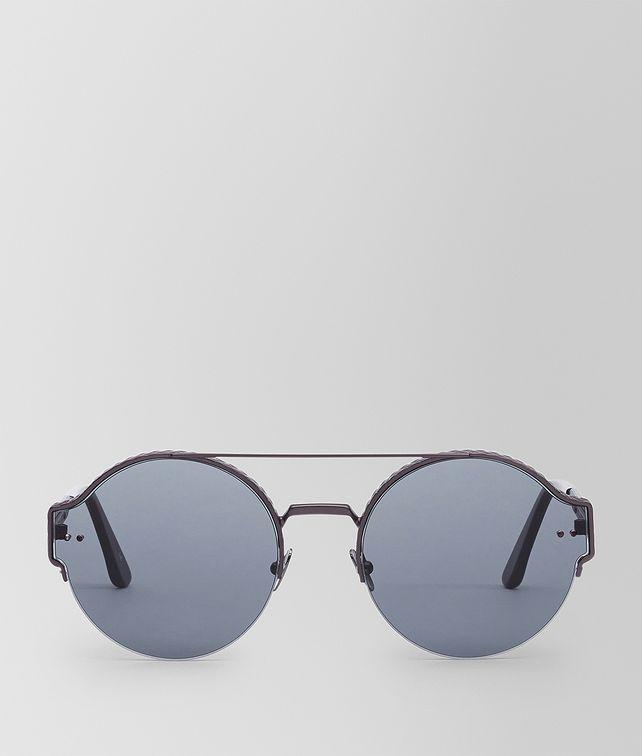 BOTTEGA VENETA SUNGLASSES IN BURNISHED METAL WITH SMOKE LENS Sunglasses Man fp