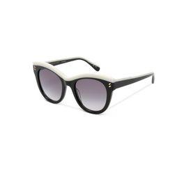 Shiny Black Oversized Square Sunglasses