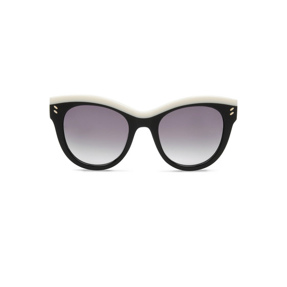 Shiny Black Oversized Square Sunglasses