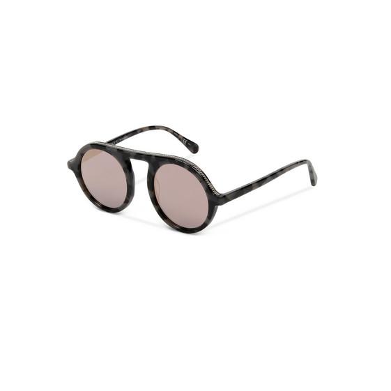 Gray Tortoise Round Sunglasses