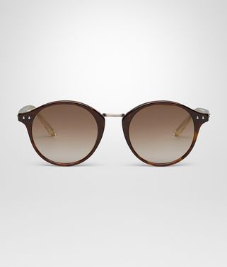 SUNGLASSES IN DARK HAVANA ACETATE, SOLID BROWN LENS