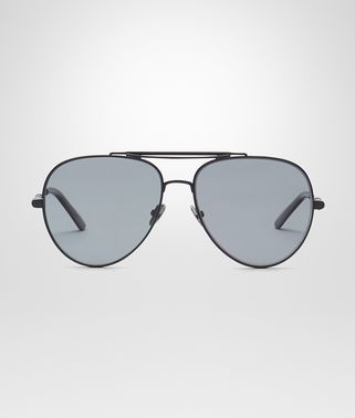 SUNGLASSES IN ANTIQUE SILVER ACETATE, SOLID IVORY LENS