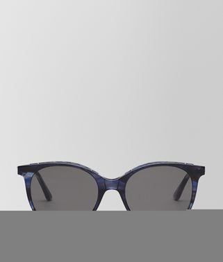 SUNGLASSES IN BLUE HAVANA ACETATE, SOLID GREY LENS