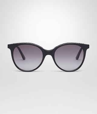 SHINY BLACK ACETATE SUNGLASSES