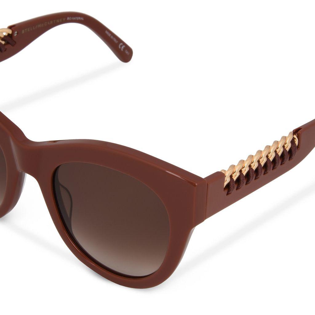 Red Clay Falabella Cat Eye Sunglasses  - STELLA MCCARTNEY