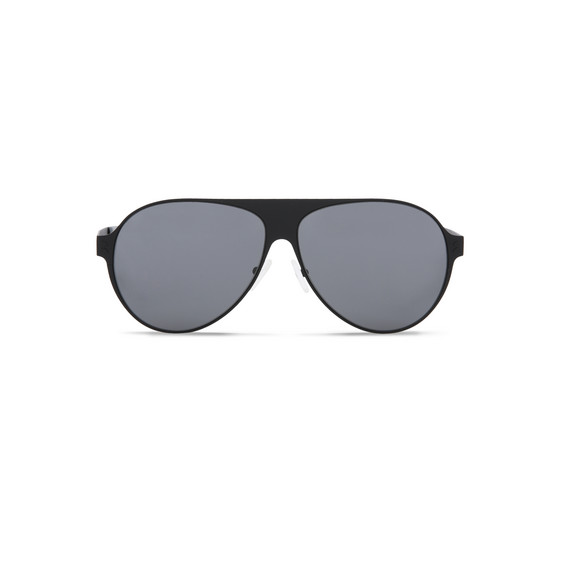 Black Aviator Shield Unisex Sunglasses