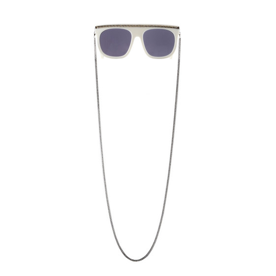 White Falabella Chain Sunglasses