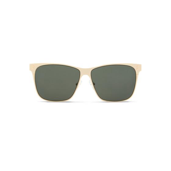 Occhiali da Sole Aviator Quadrati in Metallo Oro