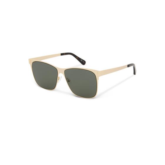Gold Square Metal Aviator Sunglasses