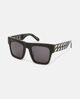 Black Falabella Bold Chain Sunglasses