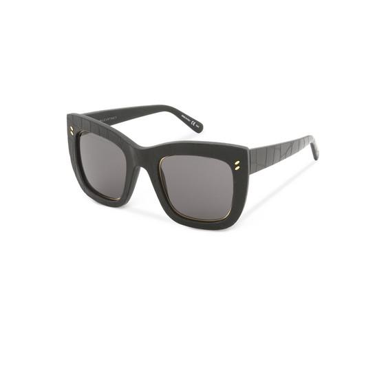 Black Eco-Croco Textured Sunglasses