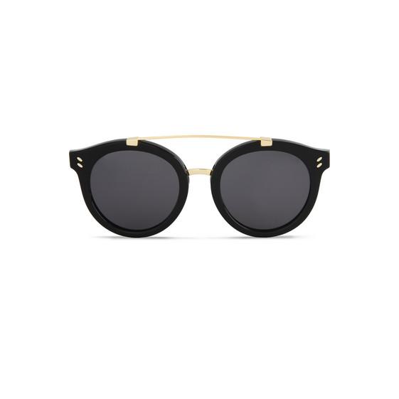 Black Havana Round Frame Sunglasses