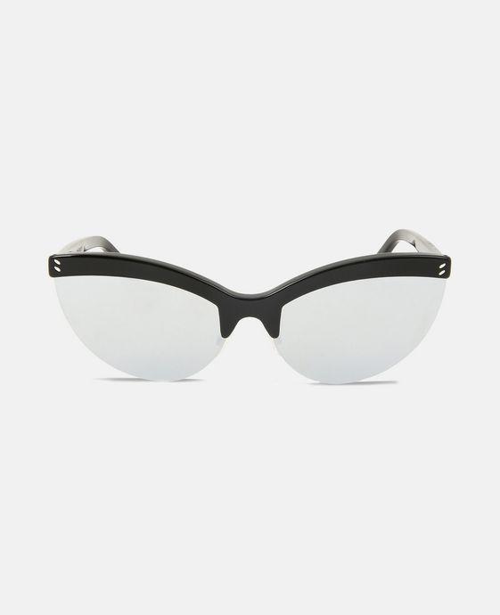 STELLA McCARTNEY Black Semi-Rimless Cat Eye Sunglasses  Eyewear D c