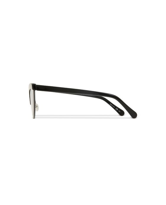 STELLA McCARTNEY Black Semi-Rimless Cat Eye Sunglasses  Eyewear D i