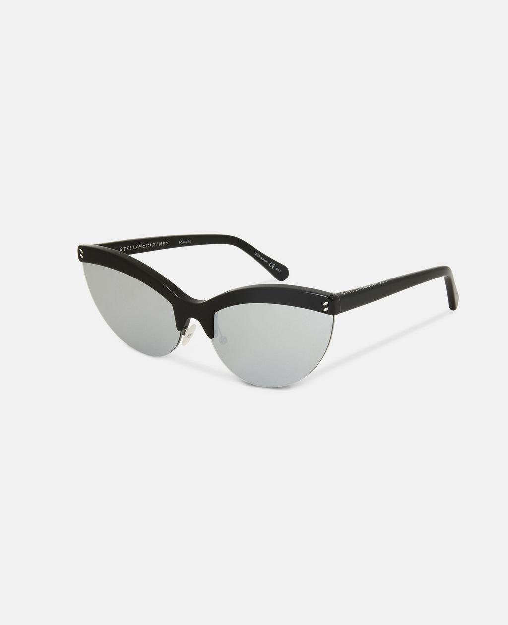 Black Semi-Rimless Cat Eye Sunglasses  - STELLA MCCARTNEY