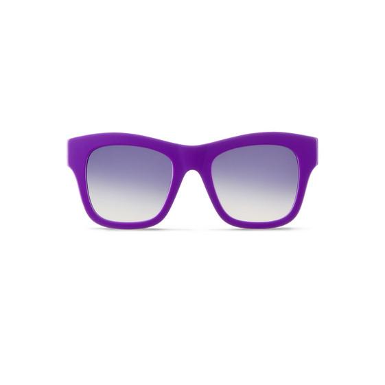 Lunettes de soleil carrées Falabella violettes