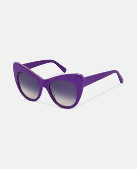 Purple Oversized Cat Eye Sunglasses