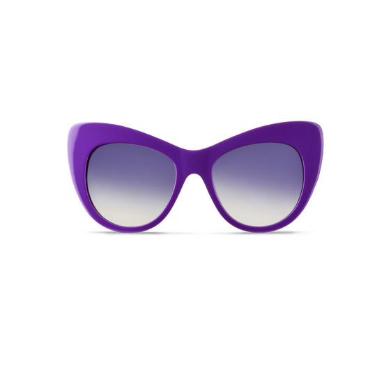 Lunettes de soleil œil de chat oversize violettes
