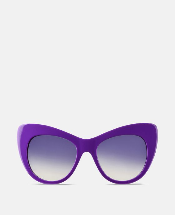 Purple Oversized Cat Eye Sunglasses