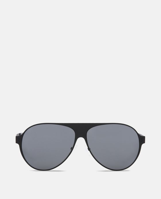 Black Aviator Shield Unisex Sunglasses