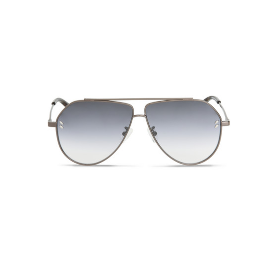 Grey Tortoise Aviator Sunglasses