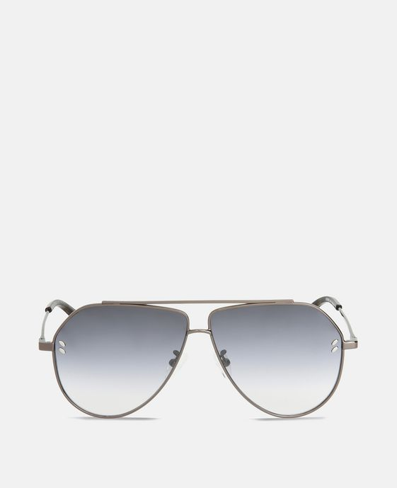 Gray Tortoise Aviator Sunglasses