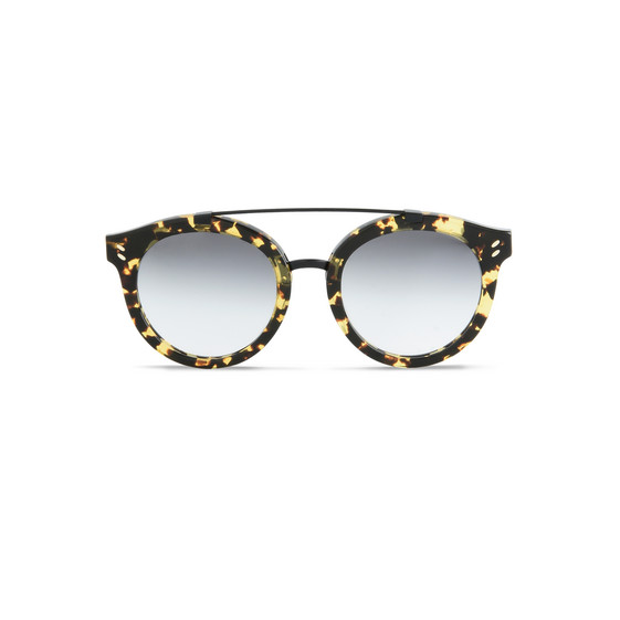 Vintage Dark Havana Round Frame Sunglasses
