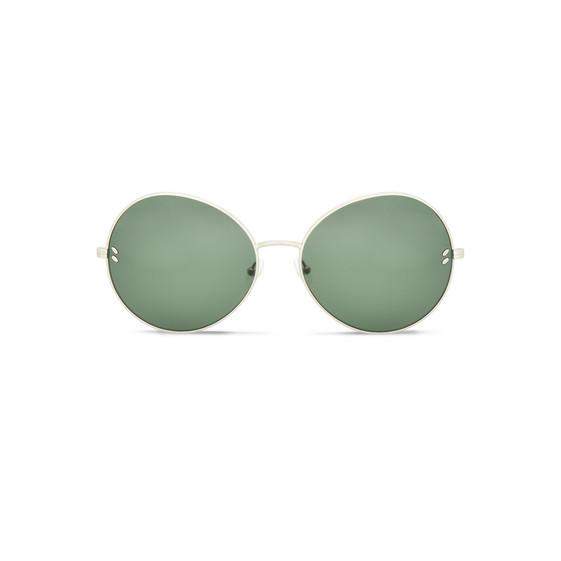 Occhiali da sole in metallo verde rotondo