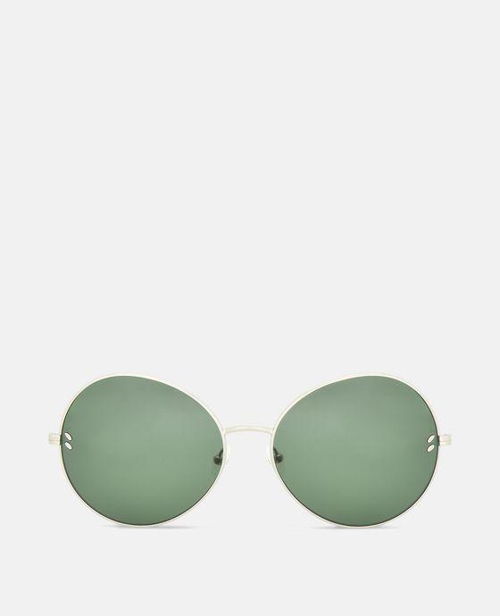 Metal Green Round Sunglasses