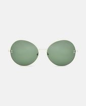 Metal Green Round Sunglasses