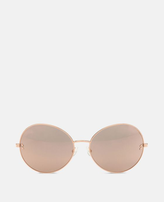 Metal Rose Gold Round Sunglasses