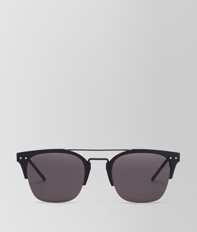 BOTTEGA VENETA BLACK ALUMINIUM SUNGLASSES Sunglasses U fp