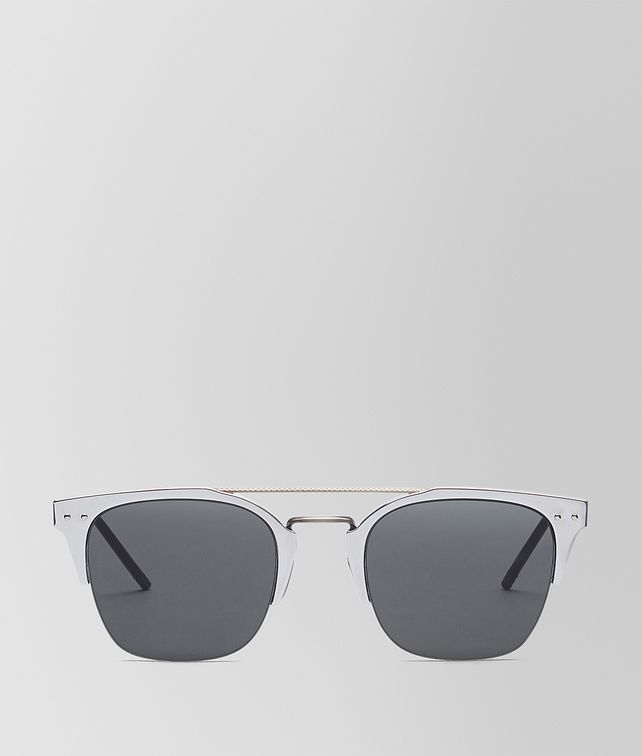 BOTTEGA VENETA SILVER ALUMINIUM SUNGLASSES Sunglasses [*** pickupInStoreShippingNotGuaranteed_info ***] fp