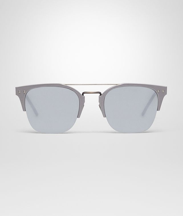 BOTTEGA VENETA GREY ALUMINIUM SUNGLASSES Sunglasses [*** pickupInStoreShippingNotGuaranteed_info ***] fp