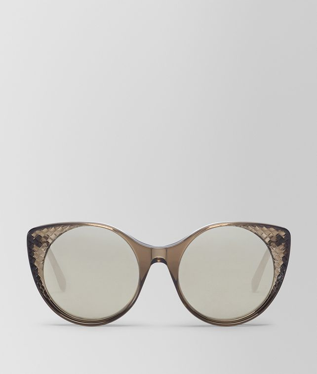 BOTTEGA VENETA BROWN ACETATE SUNGLASSES Sunglasses Woman fp