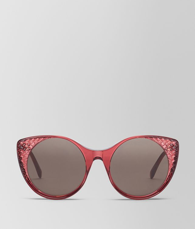 BOTTEGA VENETA OCCHIALI DA SOLE IN ACETATO BORDEAUX Occhiali da Sole Donna fp
