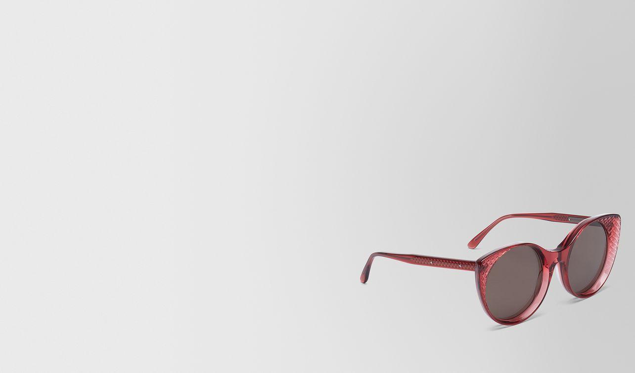 occhiali da sole in acetato bordeaux landing