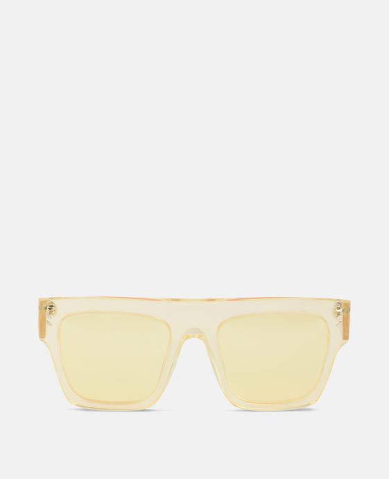 Yellow Transparent Sunglasses