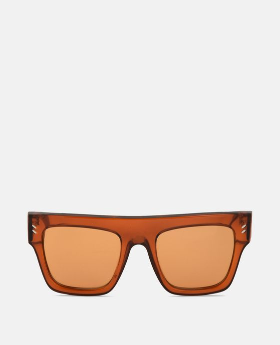 Orange Transparent Sunglasses