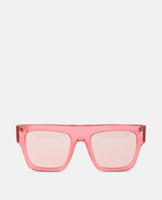 Pink Transparent Sunglasses