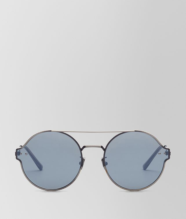 BOTTEGA VENETA SILVER METAL SUNGLASSES Sunglasses E fp