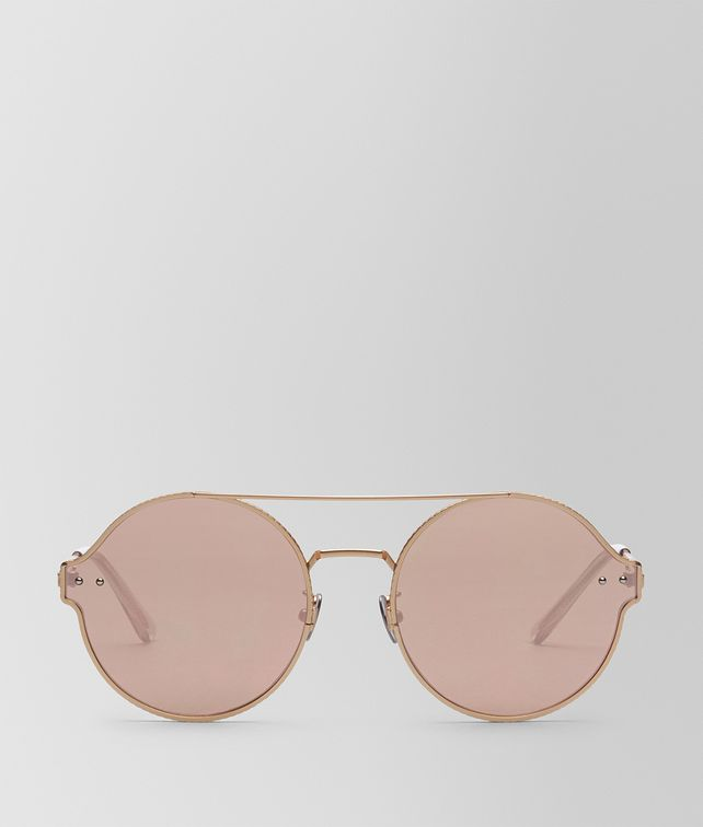 BOTTEGA VENETA GOLD METAL SUNGLASSES Sunglasses E fp