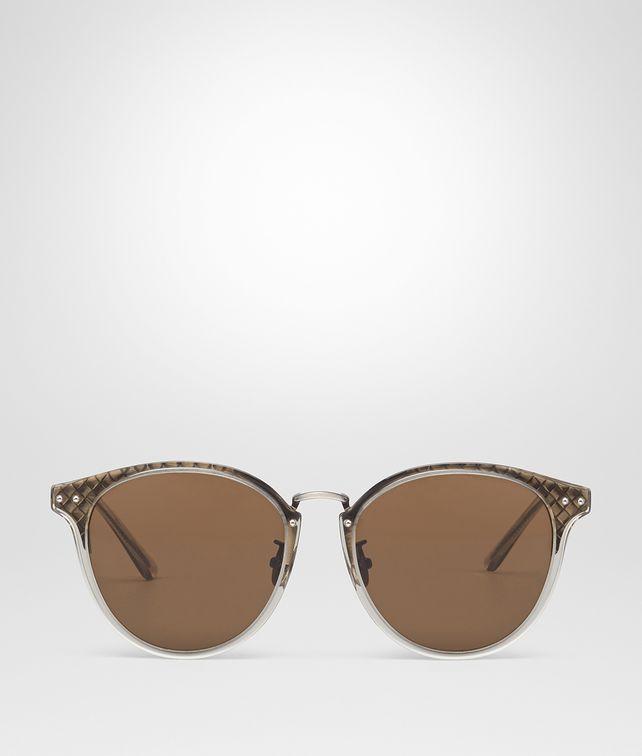 BOTTEGA VENETA SILVER METAL SUNGLASSES Sunglasses E fp
