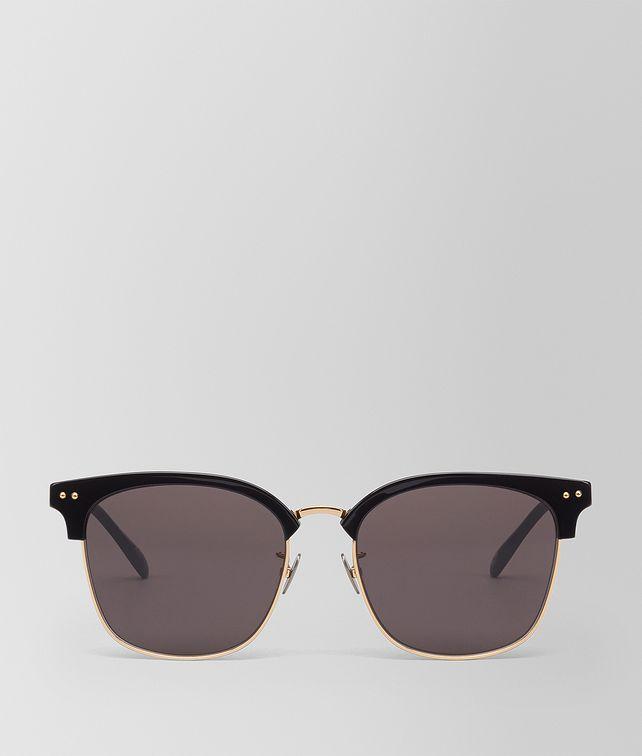 BOTTEGA VENETA NERO GOLD METAL SUNGLASSES Sunglasses E fp
