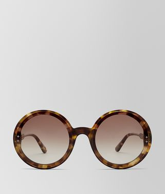 HAVANA BROWN ACETATE HOOP SUNGLASSES
