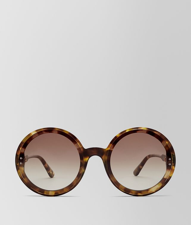 BOTTEGA VENETA AVANA BROWN ACETATE HOOP SUNGLASSES Sunglasses Woman fp