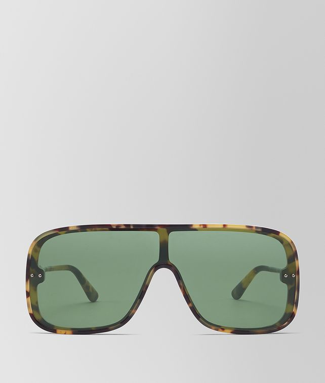 BOTTEGA VENETA AVANA GREEN ACETATE CERVINIA SUNGLASSES Sunglasses Man fp