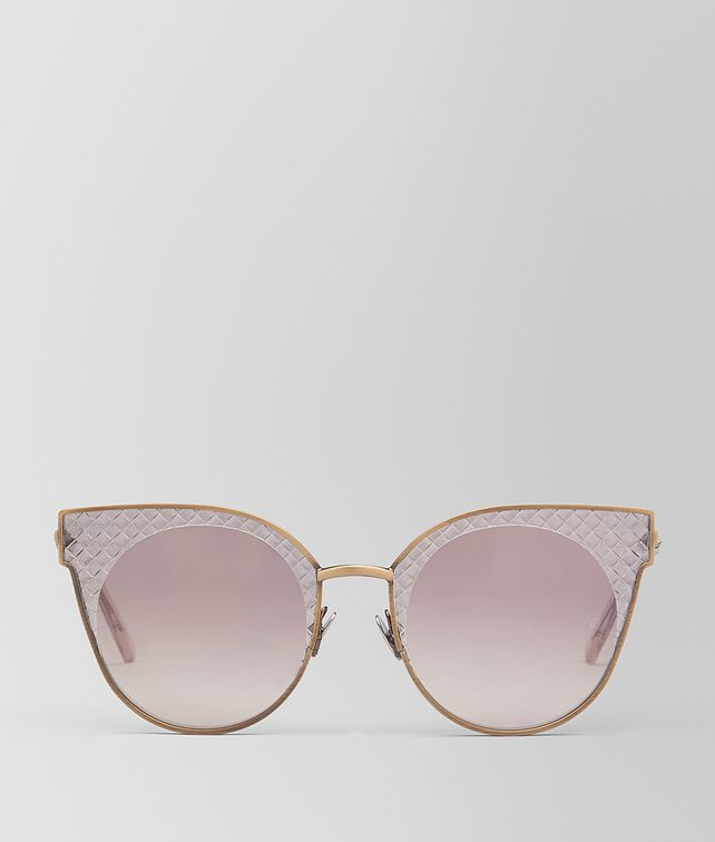 BOTTEGA VENETA BRONZE METAL SUNGLASSES Sunglasses [*** pickupInStoreShipping_info ***] fp