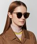 brown metal sunglasses Full Out Portrait